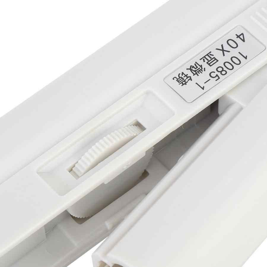 40X Zoom kieszonkowy wielkości LED lupa mikroskopowa mikro obiektyw do uniwersalnych telefonów komórkowych