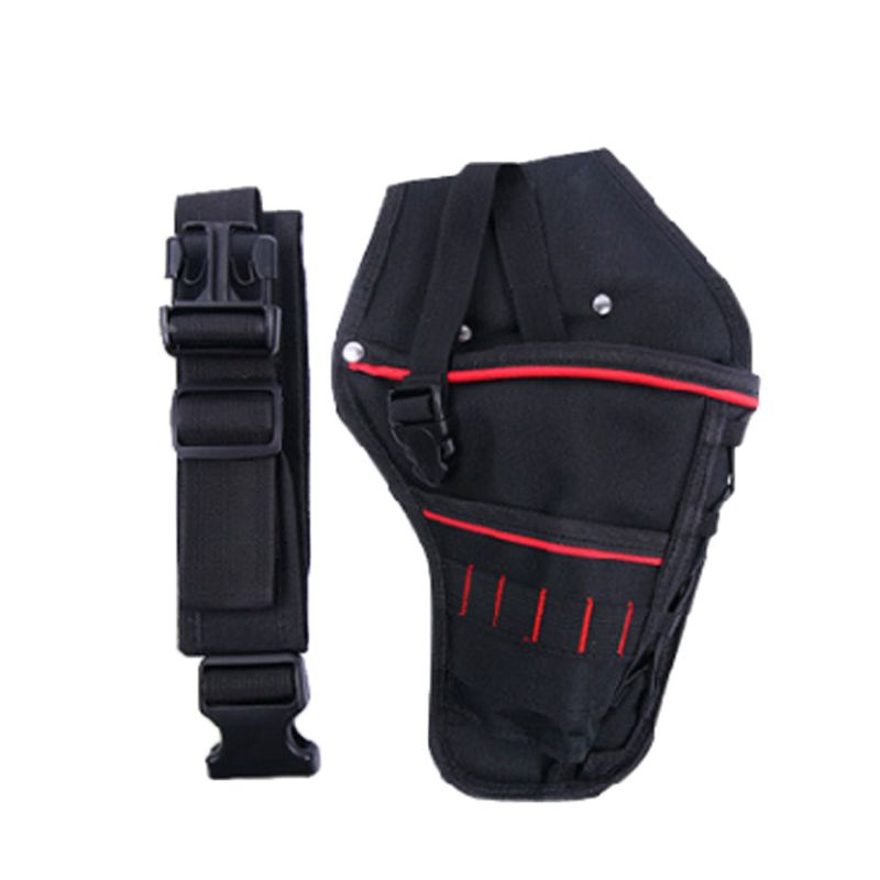 Waterproof Drill Holster With Waist Belt Storage Bag For Driver Screw Bit Wrench