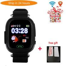 Q90 لتحديد المواقع طفل ساعة ذكية طفل مكافحة خسر ساعة اليد SOS دعوة الموقع جهاز تعقب Smartwatch