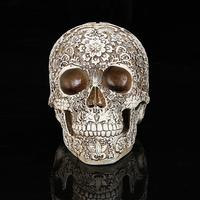 Resin Skull Shape Halloween Craft Diy Artificial Skull Halloween Decor Bone Head Craft Home Decorations Festival Party Supplies
