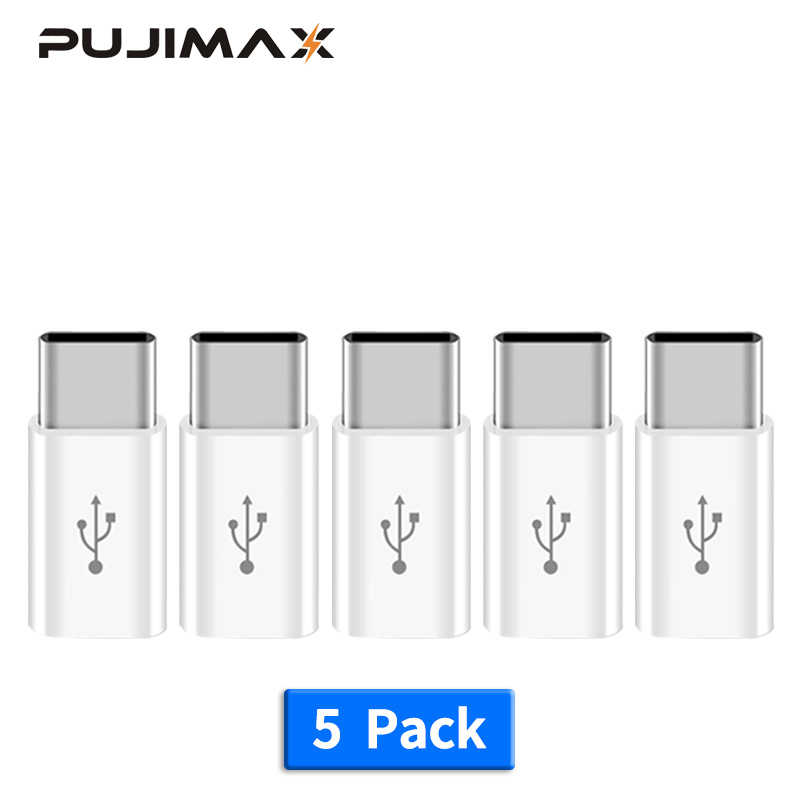 PUJIMAX 5 Pack Adapter Micro Usb Male To Type C Converter Adapter for Huawei Macbook Oneplus Xiaomi HTC Charging Charger adapter