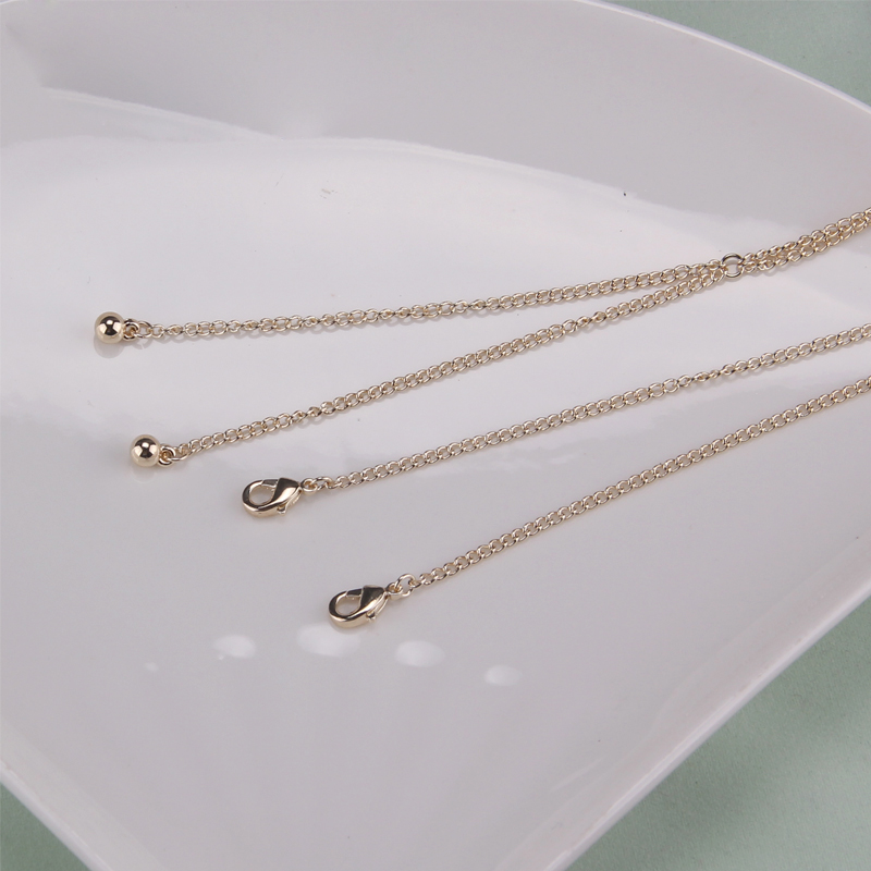 Women Trendy Simple Tiny Golden Copper Long Tassels Ball Beads Pendants Necklaces Lady Chokers Sweater Neck Chains Gifts Jewelry