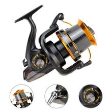 Fishing Reel Spinning 12+1BB Bearings LJ9000 Fishing Wheel Metal Spinning Reel High Speed 4.11:1 Spinning Reel Fishing Reels 12 1bb 5 2 1 full metal spinning fishing reel super amg3000