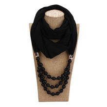 цены accessories chiffon scarf jewelry pendant fashion hijab necklace imitation pearl scarves jewelry shawl necklaces scarf for women