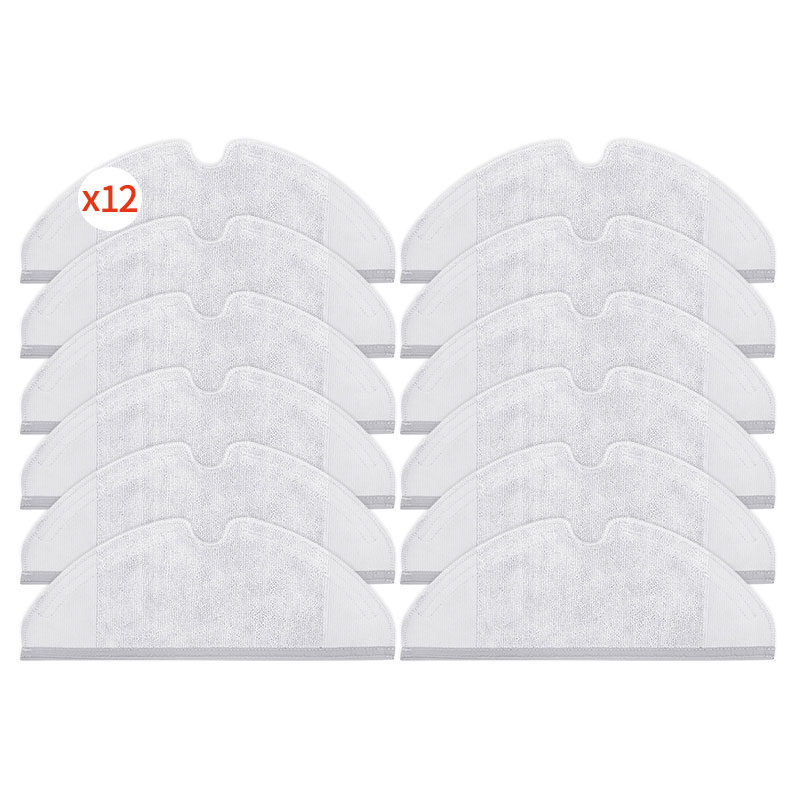 12PCS Robot vacuum cleaner cleaning cloth accessories for <font><b>xiaomi</b></font> 1/<font><b>2</b></font> <font><b>roborock</b></font> <font><b>s50</b></font> s51 s55 vacuum cleaner parts robot vacuum image