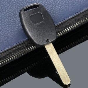 Image 4 - 3 botones botón Repalcement entrada sin llave estuche para mando a distancia caso clave hoja sin cortar para HONDA Accord piloto cívica CR V coche cubre