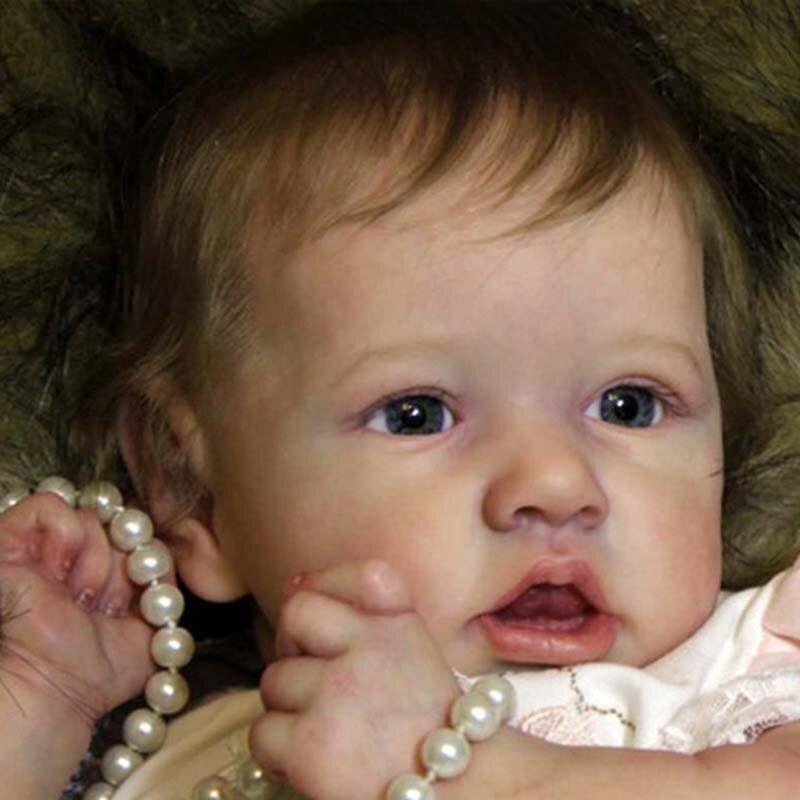 Reborn bébé poupée 22 pouces réaliste nouveau-né bébé poupées Reborn réaliste corps complet Silicone bébés à la main bambin poupées jouets