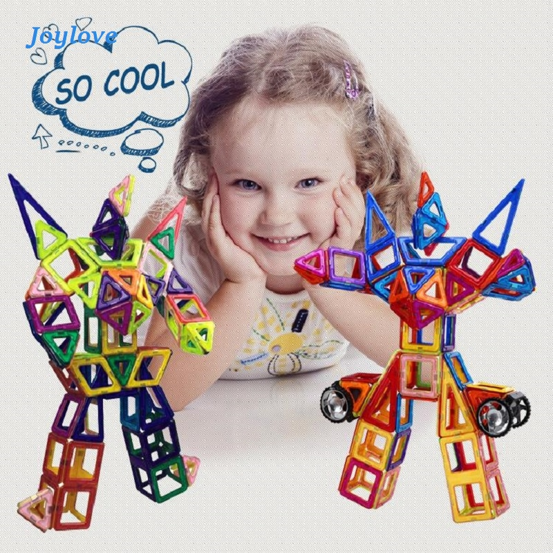 JOYLOVE 21-253pcs Children's Teaching Aids Mini Magnetic Designer Construction Set Model & Building Plastic Blocks Dropshipping