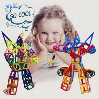 JOYLOVE 21-253pcs Children's Teaching Aids Mini Magnetic Designer Construction Set Model & Building Plastic Blocks Dropshipping 110pcs magnetic building blocks model