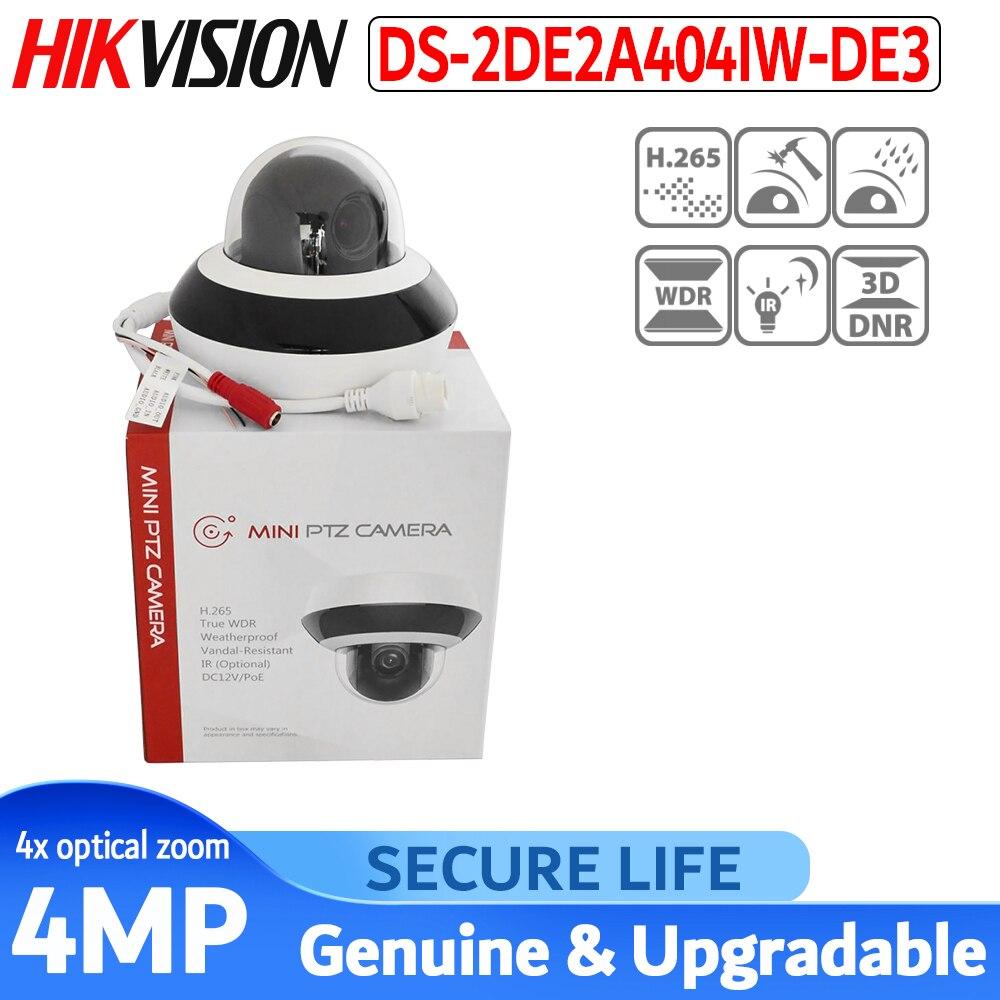 Hikvision Original PTZ IP Camera DS-2DE2A404IW-DE3 4MP 4X 2.8-12MM Zoom Network POE H.265 IK10 ROI WDR DNR Dome CCTV PTZ Camera