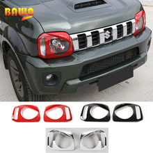 BAWA Lamp Hoods Car Front Headlight Light Lamp Cover for Suzuki Jimny 2007+ ABS Car Stickers Styling Accessories For Jimny