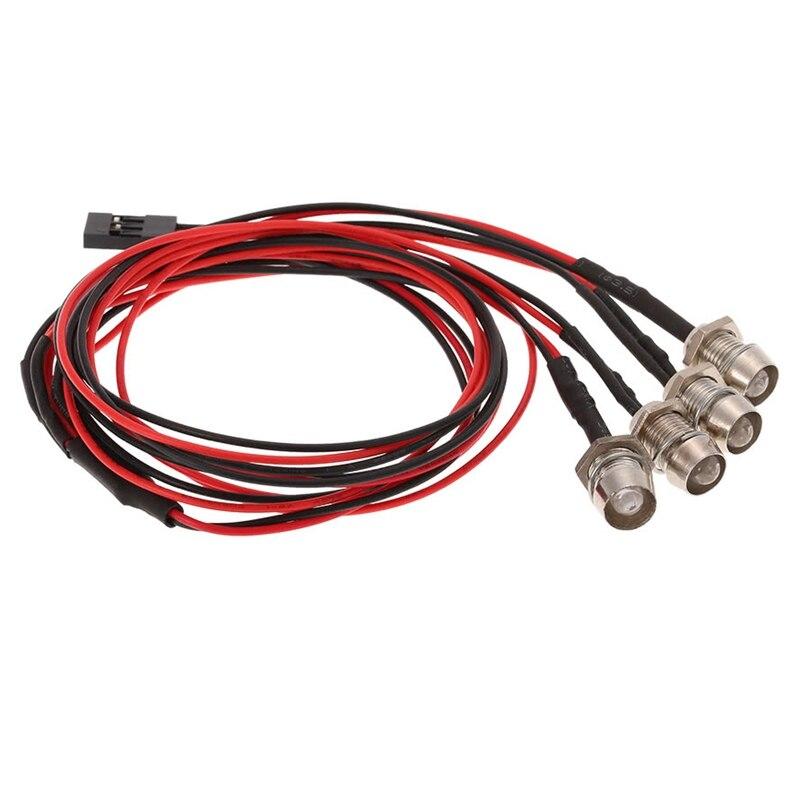 4LED Lights Kit 2 White 2 Red for 1//10 1//8 Traxxas HSP SCX10 D90 HPI RC Car H5R3