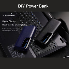 лучшая цена New power bank LED light 3 USB 18650 battery power bank case 20000mAh Portable mobile power