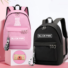 IMIDO Rose Lisa Girls Backpacks Canvas Bags For Students Back To School Bookbag Teenager BLACKPINK Kawaii Laptop Backpacks
