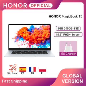 Global Version Honor MagicBook 15 Laptop 15.6'' FHD AMD Ryzen 5 3500U 8GB 256GB SSD 65W Fast Charger Windows 10 Laptops