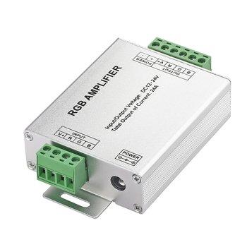 1Pc najwyższej sprzedaż LED wzmacniacz RGB 24A kontroler LED DC12-24V dla 5050 3528 listwy RGB LED światła na całym świecie tanie i dobre opinie CN (pochodzenie) PWM (Pulse Width Modulation) ZK45700 Long Life Span 5-10m Kontroler rgb Plastic and Metal none LED 5050 3528