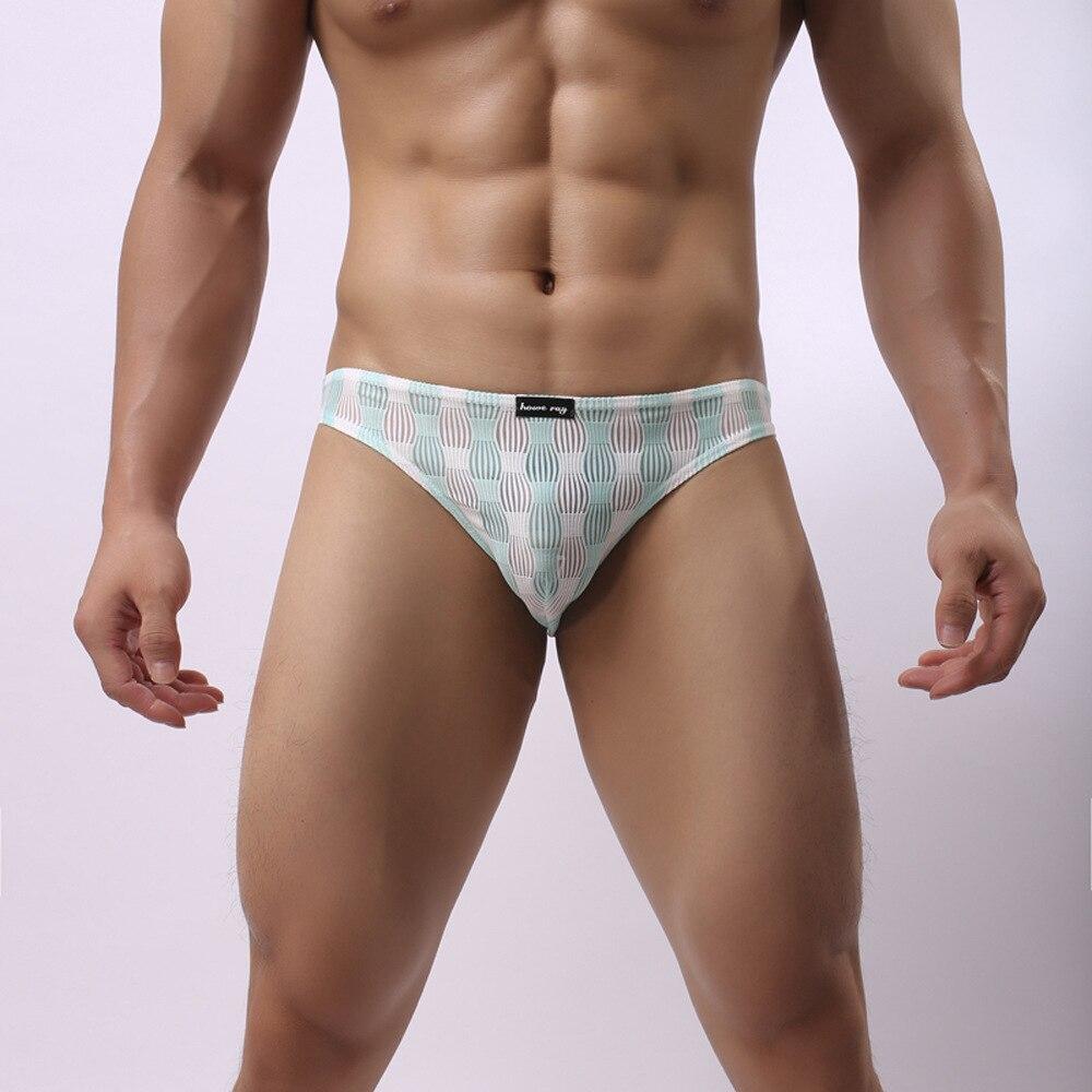 Howe Ray Men's Sexy Underwear, Translucent Low-waist Men's Briefs, Festive Lanterns, Foreign Trade Fun Underwear