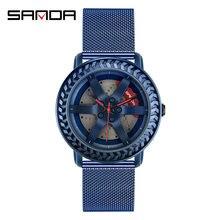 Часы наручные sanda мужские в стиле ретро брендовые модные водонепроницаемые