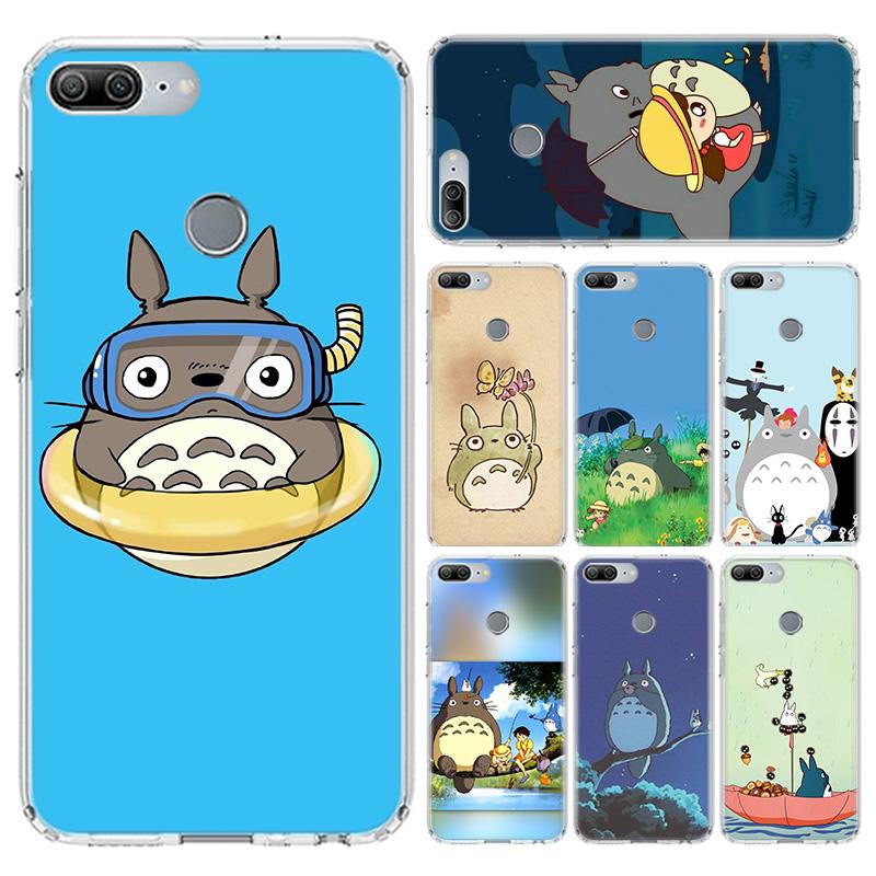 Cartoon Totoro For Huawei Y9 Y5 Y6 Y7 2019 Phone Case Honor 10 9 Lite 9X 8X 8S 8A 7S 7A 10i 20i V20 Pattern Phone Coque Capa