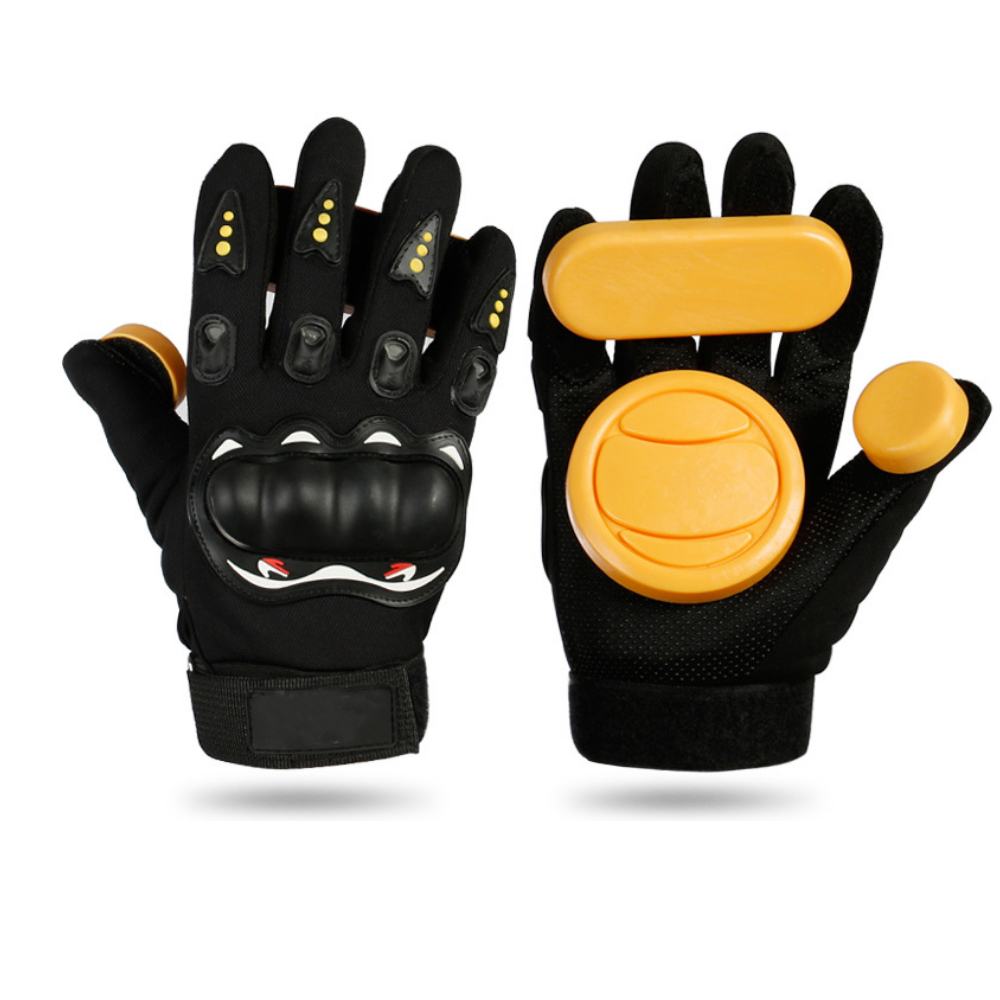 Skateboard Glove With Wax Black Color Protective Skate Glove Skating Gloves Downhill Skate Accessory