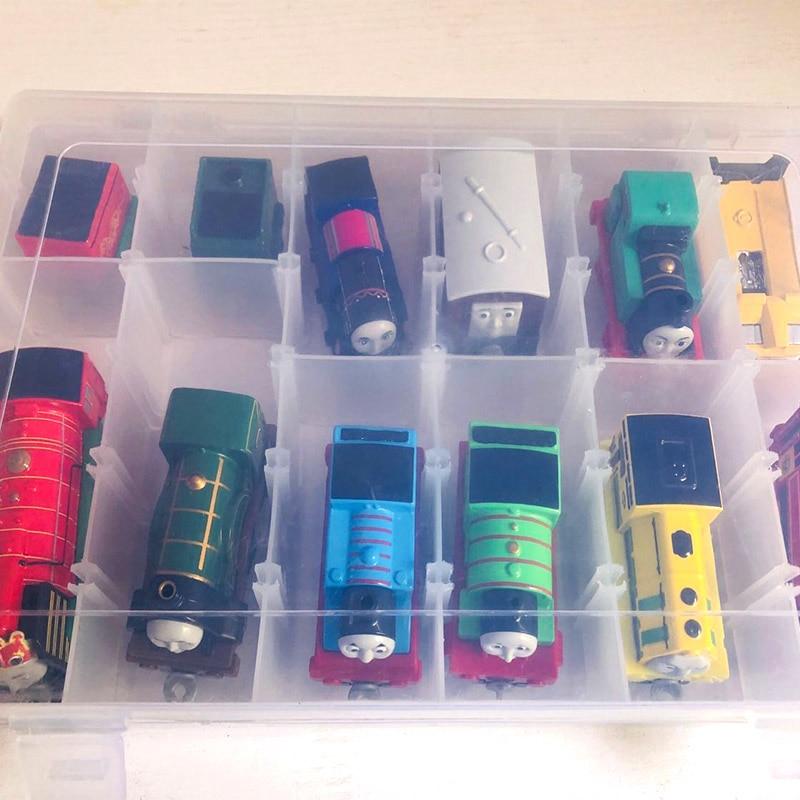 Thomas And Friend Portable Plastic Storage Box Hold 12 Trains Model Cars Multipurpose PVC Train Toy Box Kids Juguetes Gifts
