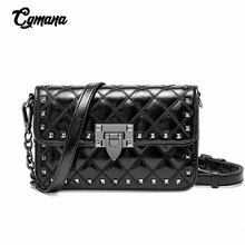 купить Classic Brand Women Bags 2019 Luxury Genuine Leather Handbags Women Messenger Bags Cover Rivet Bag Girls Fashion Shoulder Bag по цене 2420.93 рублей