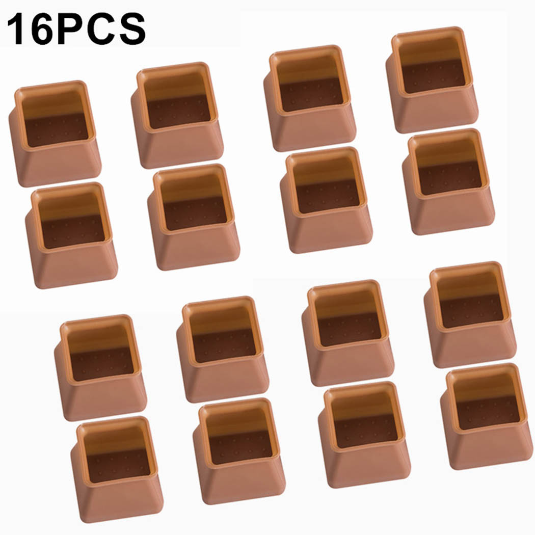 16pc Table Chair Leg Silicone Cap Pad Furniture Non-slip Table Feet Cover Floor Protector Foot Protection Bottom Cover Pads