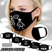 Masques de professeur de chimie drôle noir et blanc plein air hommes femmes coupe-vent masque de Protection contre le vent cyclisme Mascaras Para La Boca