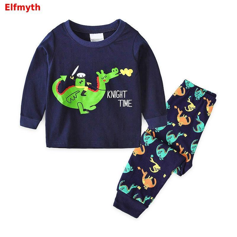 2019 Boys Pajamas Pijama Dinossauro Pyjamas Kids Nightgown Pijamas De Animales Enfant Stitch Roupas Pajama Set Infantil Menino