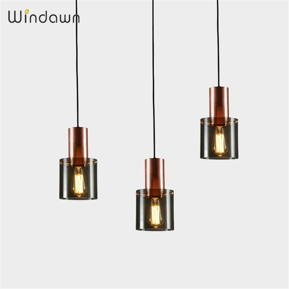 Windawn Nordic Pendant Lights Glass Ceiling Lamp Iron Bedside Lamp Modern Simple Hotel Bedroom Living Room Office Ceiling Lamp