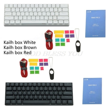 Anne Pro2 Mini Portable Wireless Bluetooth 60% Mechanical Keyboard Red Blue Brown Switch Gaming Keyboard Detachable Cable Kailh