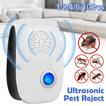 EU/US Plug Electronic Mosquito Ultrasonic Pest Repeller Mosquito Rodent Repellent Control Indoor Bug Zapper Insect Trap Killer electronic mosquito killer lamp smart photocatalyst light bug insect mosquito repellent repeller zapper with us plug adapter