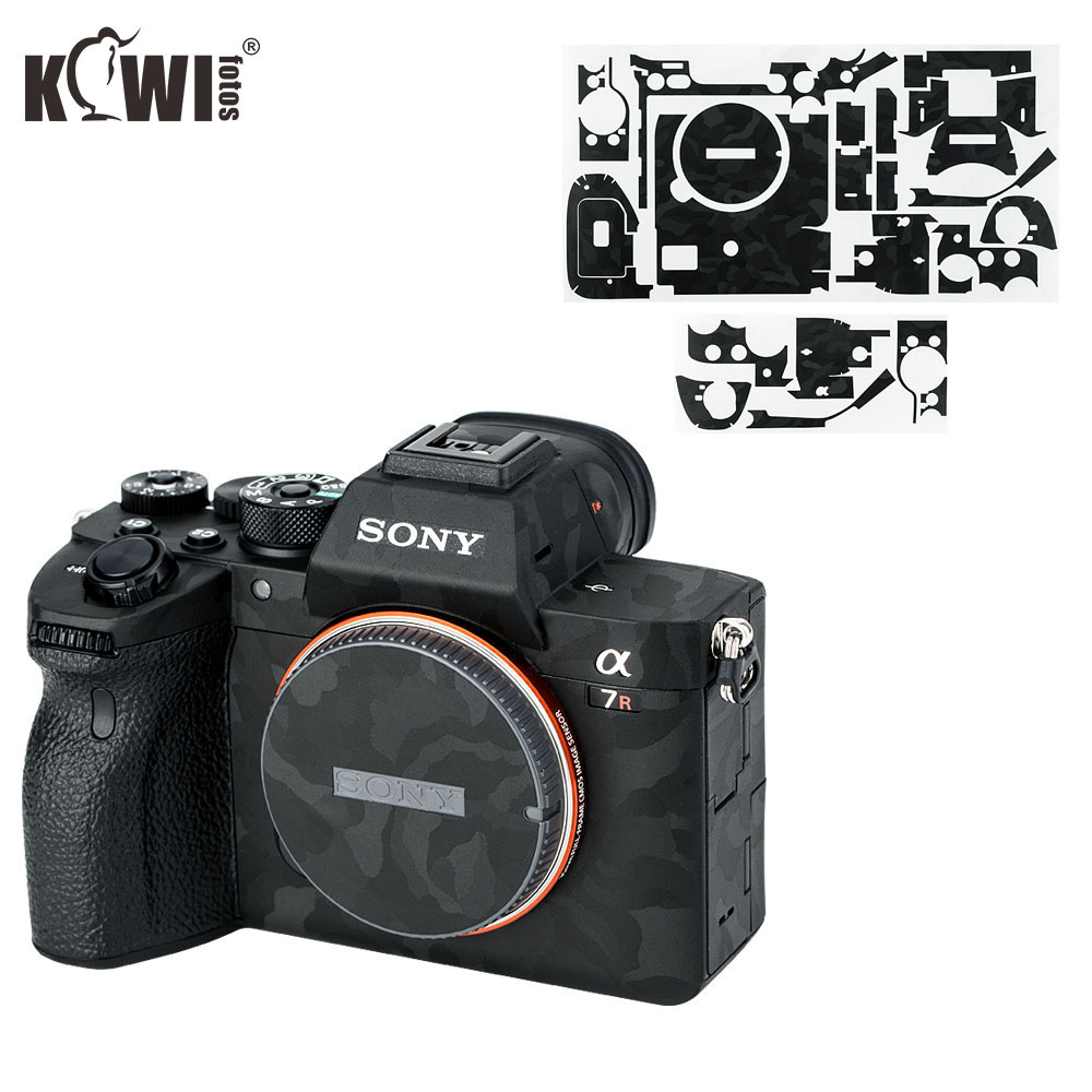 Kiwifotos Anti-Scratch Camera Body Skin Cover Protector Film For Sony A7R IV A7RIV A7R4 A7R Mark IV Shadow Black 3M Sticker