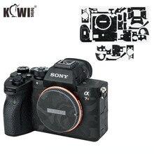 Kiwifotos anti çizik kamera vücut cilt kapak koruyucu Film Sony A7R IV A7RIV A7R4 A7R Mark IV gölge siyah 3M Sticker