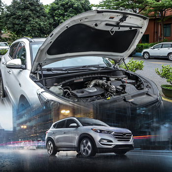 For Hyundai Tucson 2016 2017 2018 Hood Cover Hydraulic Rod Strut Rod Telescopic Rod Engine Hood lift Support 2pcs Car Styling To фото
