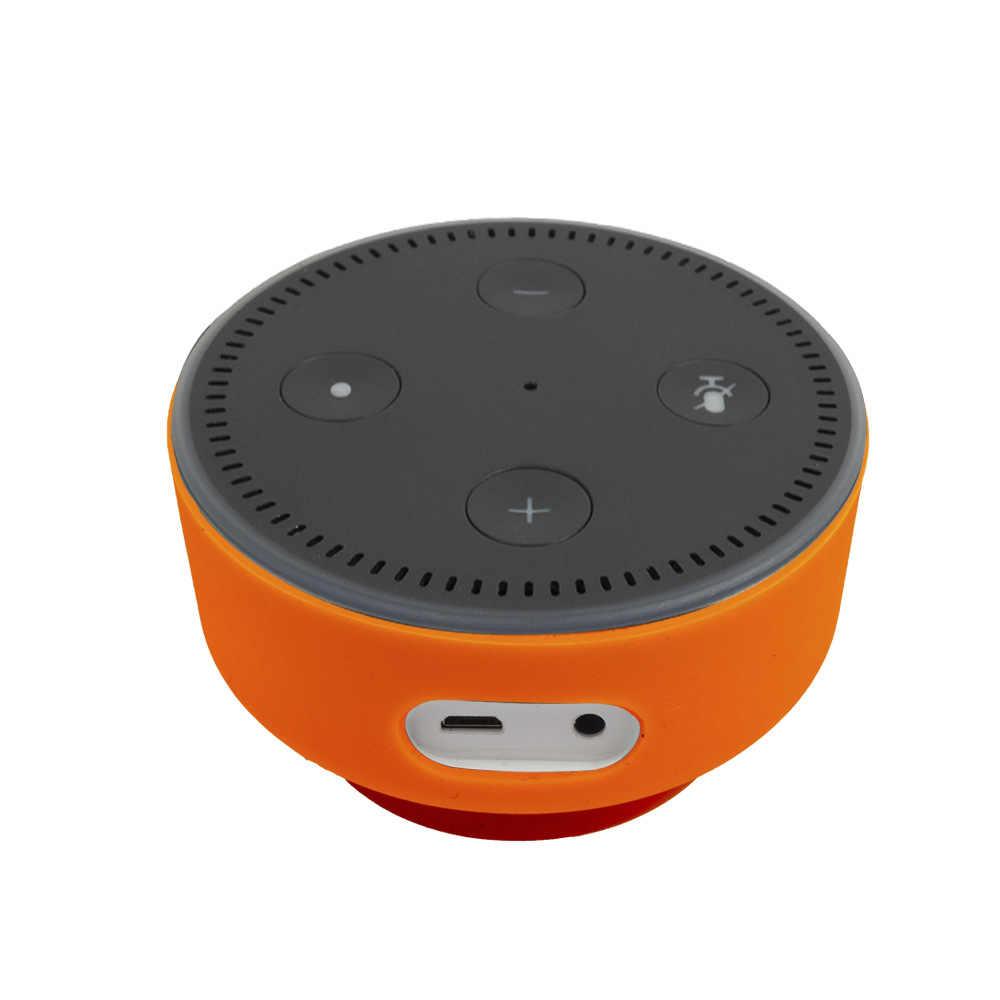 Silikonowy pokrowiec ochronny ultracienki pokrowiec na rękaw pokrowca Echo Dot 2. Stojak etui na uchwyt pokrowiec na pokrowiec