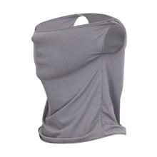 Солнцезащитный козырек для гольфа воротник ледяной стрейч дышащий солнцезащитный козырек для гольфа маски серый