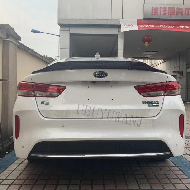 Fit For Kia K5 Optima 2016 2017 2018 ABS / Carbon Fiber Exterior Rear Spoiler Tail Trunk Boot Wing Decoration Car Styling image