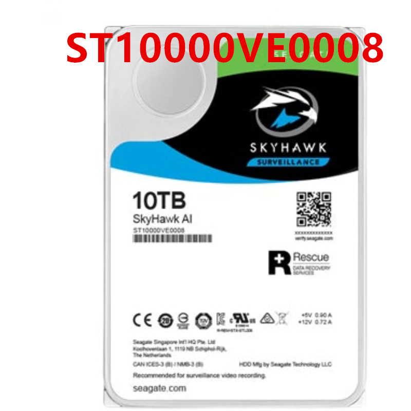 """New HDD For Seagate 10TB 3.5"""" SATA 6 Gb/s 256MB 7200RPM For Internal Hard Drive For Surveillance HDD For ST10000VE0008 1"""