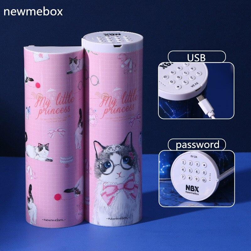 Cat Pencil Case Newmebox Estuche Escolar Electronic Locks Pencilcase Kawaii Trousse Scolaire Stylo Pencil Box Astuccio Scuola