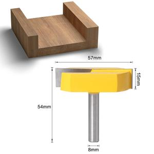 Image 2 - 1PC 8mm shank Cleaning Bottom Router Bits with 8mm Shank,2 3/16 Cutting Diameter for Surface Planing Router Bit