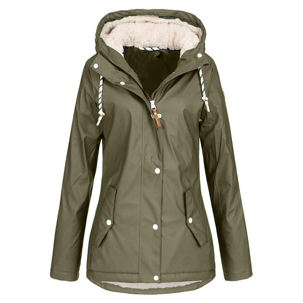 Women Oversize Rain Coat Jacket Outdoor Hoodie Waterproof Overcoat Lady Windproof Coat Hooded Zipper Outwear Ladies Jackets#3