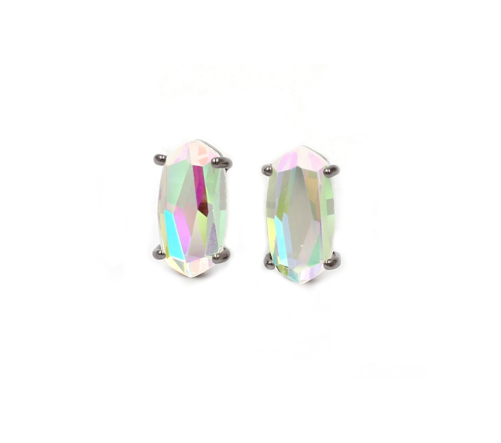 black ab earrings
