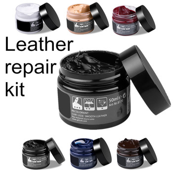 Pielęgnacja samochodu zestaw płynna skóra skóra Refurbish Repair Tool fotel samochodowy Sofa płaszcze otwory zarysowania pęknięcia przywrócenie buta do samochodu tanie i dobre opinie sikeo CN (pochodzenie) 0 07kg Car leather repair paint cleaner Cream 50ML Środki do czyszczenia lakieru Leather Recoloring Balm