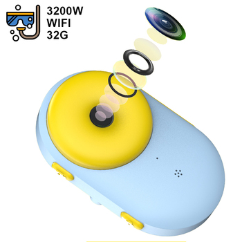 WiFi Childrens Waterproof Camera Mini Dual Photography Sports Digital Toy Birthday Gift Kids