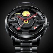 NEKTOM Men Quartz Watch Men Custom Design Super Car Wheel Ri
