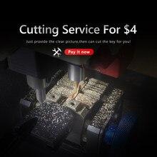 KEYYOU Remote Car Key Shell Case FoB Extra Fee For CNC Cutting Cut Blade Service Dropship