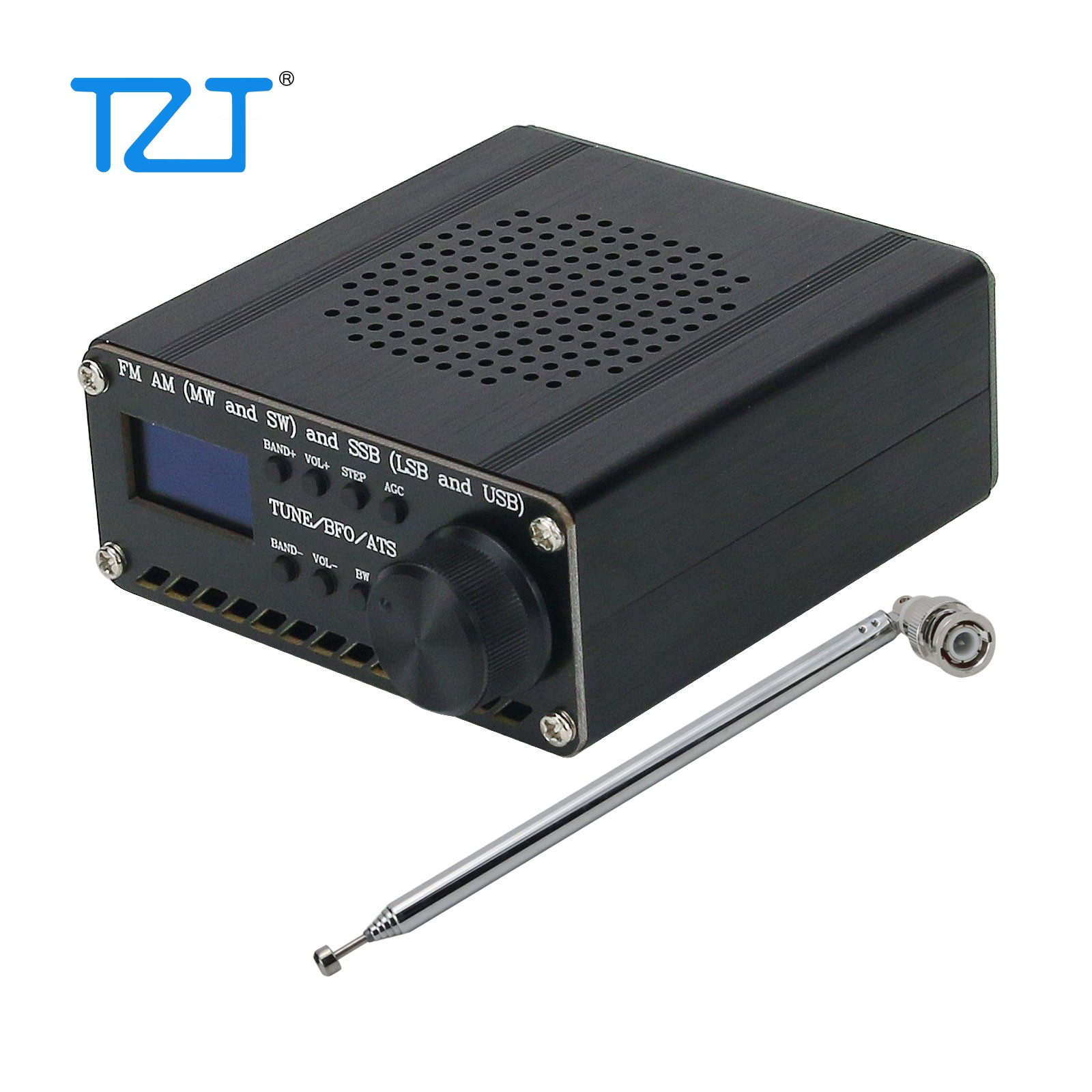 Radio-Receiver Antenna Case Speaker Assembled Lithium-Battery SSB SI4735 All-Band