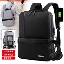 Fast Ship Laptop Backpack Mens Male Backpacks Business Notebook Mochila Waterproof Back Pack USB Charging Bags Travel Bagpack