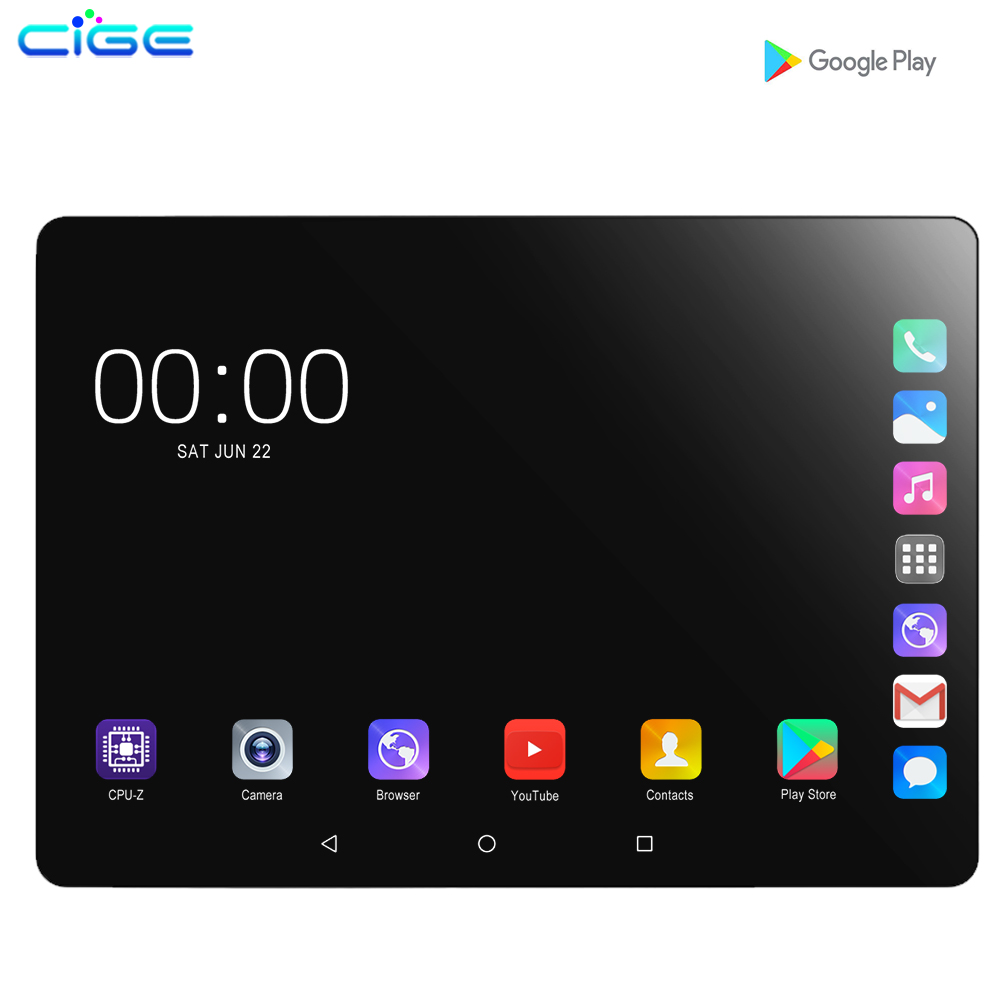 CIGE Mx960 10.1 Inch Tablet PC Android 9.0 6GB RAM+128GB ROM Octa Core IPS WiFi GPS Tablets Mobile Phone Call Sim Card 10 9